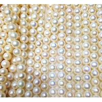 Best Round bright 6-7mm natural fresh water pearls wholesale wholesale