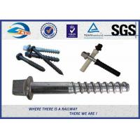 Buy cheap Stainless Steel / Brass Railroad Concrete Screw Spike Railway Fastening System Parts product