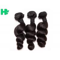 China Peruvian Loose Wave Remy Natural Human Hair Extensions Natural Black Soft & Smooth on sale