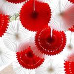 Best Solid Color Pierced Paper Fan Decorations Paper Backdrop Decor wholesale