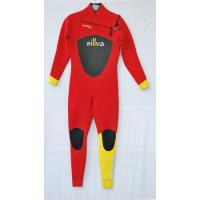 Buy cheap Red /Black/Yellow  Women Full Body CR  Diving Suit   with Mesh on the Chest and back product