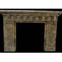 China Indoor Natural Stone Fireplaces Emperador Fire Surround 2800 Kg/M3 Hand Making on sale