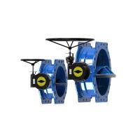 Best Ductile Iron Blue Double Eccentric Butterfly Valve Modulating / On Off Type wholesale