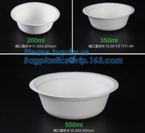 Best biodegradable sugarcane bagasse bowl,Food Grade Biodegradable Disposable Sugarcane Bagasse Bowl With Lid, pulp bowl pac wholesale