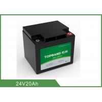 Best Camping Rechargeable Power Supply , Battery Pack For Camping 24V 20Ah wholesale