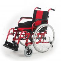China Stable Adult Custom Manual Wheelchair Rental Red Frame 510 MM Seat Width on sale