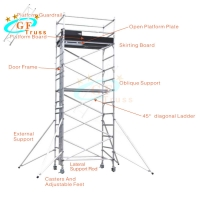Best 12m Height Telescopic Mobile Aluminum Scaffold Tower wholesale