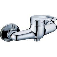 China Wall Mounted Chrome Two Hole Bathroom Faucet Shower Mixer Taps with Single Lever on sale