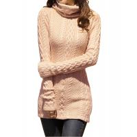 Best Slim Fit Turtleneck Fashion Pullover Sweaters Cable Knit Jumper Womens wholesale