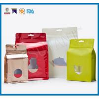 Best Custom Laminated Coffee Packaging Bags , Stand Up Pouches FDA Approved With Window wholesale