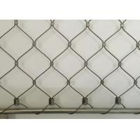 China Flexible Ferruled Wire Rope Mesh , 316 Grade Stainless Steel Cable Mesh on sale