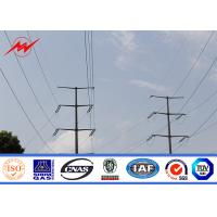 China Utility Galvanised / Galvanized Steel Pole For Electrical Power Transmission Line on sale