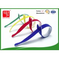 China Multi Colored Velcro Cable Ties Roll , Hook & Loop Fastening Cable Ties T Shape on sale