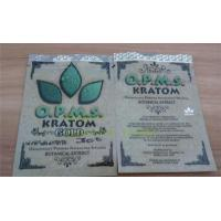 China OPMS Kratom botanical extract gold herbal bags zip plastic bags on sale