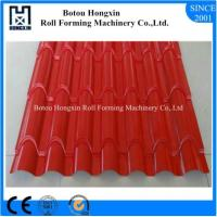 Best ISO PLC Control Tile Roll Forming Machine 0.3 - 0.8mm Thickness Plate wholesale