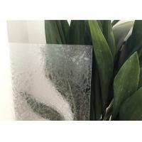 China Glue Chip Glass Patterns For Bathroom Windows Ultra Clear / Colored on sale