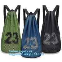Best promotional daily recycled customized wholesale mesh drawstring backpack,drawstring backpack kids mesh backpack manufact wholesale