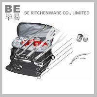 Cheap Popular 10 PCS Stainless Steel BBQ Set with Cooler Bag (BE-20066) for sale
