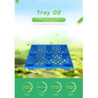 China HDPE Heavy Duty Pallet Blue Color / Single Faced Industrial Plastic Pallets on sale