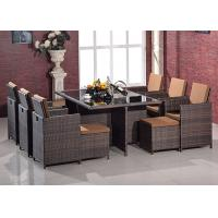 China Multiple Changed Style PE Rattan Dining Sets / Villa Furniture For Leisure wholesale