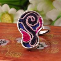 lastest design custom ethnic jewelry embroidery hmong rings with adjustable size