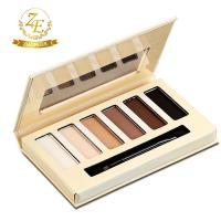 China Top Selling Make Up Cosmetics 6 Color Eyebrow Kit With Eyebrow Powder And Makeup Tool on sale