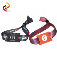 Best Waterproof 13.56MHz NFC NTAG213 bracelet RFID fabric wristbands wholesale