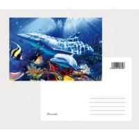 Best 2021 Hot sale cheapest 3D Lenticular  printing business photography cards lenticular postcards/ 3D Christmas cards wholesale