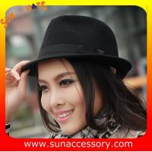 Best 5780351 Sun Accessory customized  winner  fashion 100% wool felt fedora hats, unisex hats and caps wholesaling wholesale