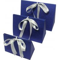 Buy cheap Simple folding apparel  Customized Gift Boxes with show window and silk ribbon product