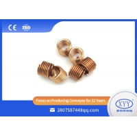 China Coated steel wire threaded inserts, brass threaded inserts for plastics on sale