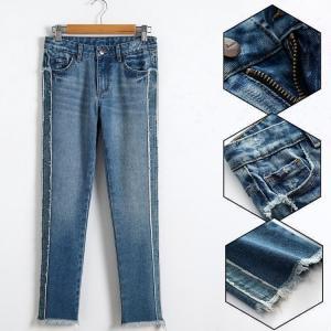 Best Children Girls Denim Clothes Grinding Trendy Trousers Med Blue Color wholesale