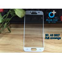 Buy cheap AGC Tempered Glass 3D Curved Screen Protector For Samsung A3 2017 White Color product