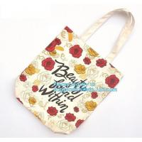 Best 10 Oz Tote Reusable Eco Bags Handled Style , Cotton Zipper Shopping Bag wholesale