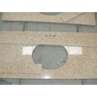 Best Sunset Gold Granite Bathroom Vanity Tops , Custom Cut Size Granite Tile Countertop wholesale