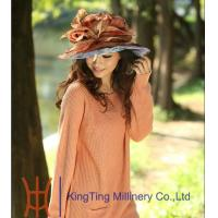 Best Custom Color Novelty Ladies Fashion Organza Hat With Adjustable Satin Sweatband wholesale
