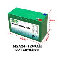 Best Green 9Ah 12 Volt Lithium Battery Pack NCM/LiFePO4 For Smart Security Monitoring wholesale