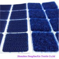 Buy cheap Square Type Hook And Loop Fabric Sheets , Blue Velcro Sticky Pads A Garde product