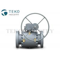 Best High Pressure Trunnion Mounted Flange End Ball Valve With Gear Operation wholesale
