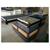 Buy cheap Automatic Cashier Checkout Counter With Conveyor Belt / Walmart Cash Counter from wholesalers