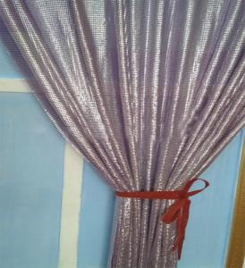 Best Fashion Design Decorative Metal Sequin Fabric,Golden Drapery wholesale