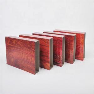 Best Wood Grain 9 inches General Rectangular Aluminum Extruded Profiles wholesale