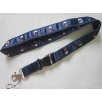 China Exhibition Gifts Imprint Satin Ribbon Overlay Polyester Lanyard on sale