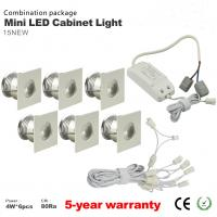 Best Dimmable 4W Mini LED Cabinet Spotlight + Led drive+Wire Kit LED jewelry showcase lighting wholesale