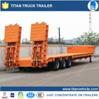 China Tri - axle Multi Axle Trailer / lowbed trailer with hydraulic loading ramps on sale