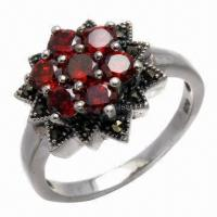 Best Amethyst Silver Ring, Available in Various Styles wholesale