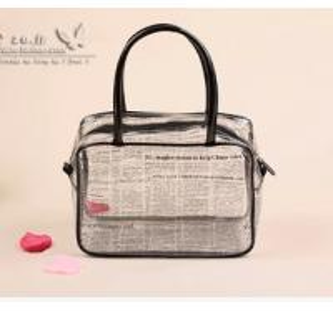 Best Customized Printing PVC Handbags , Fashion Plastic Ladies Handbags wholesale