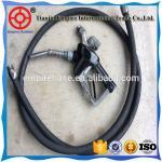 Best ISO manufacturer 45mm high wear resistant fiber braided black petrol station rubber hose wholesale
