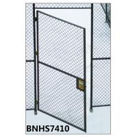 Best Grey Color Wire Mesh Partition Panels Single Hinged Security Cage Door Antirust wholesale