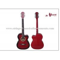 China All Linden Plywood Alternative Colorful Cutaway 38   Glossy or Matt finish Acoustic Guitar on sale